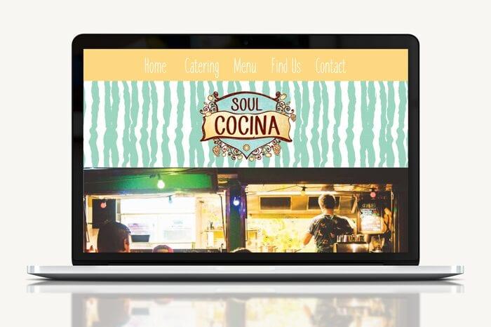 Website design for Soul Cocina a Perth based food truck